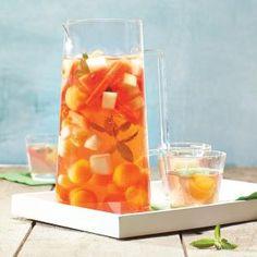 Summer Melon Rosé Sangria | MyRecipes.com For a playful presentation, use a melon baller to scoop the fruit into bobbing orbs.