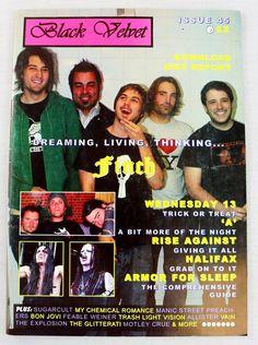 Black Velvet Magazine JAN 2005 Finch Motley Crue Halifax Vain Bon Jovi UK Rare Magazine Format, Rise Against, 45 Records, Music Magazines, Bon Jovi, My Chemical Romance, Black Velvet, How To Find Out, Things To Sell