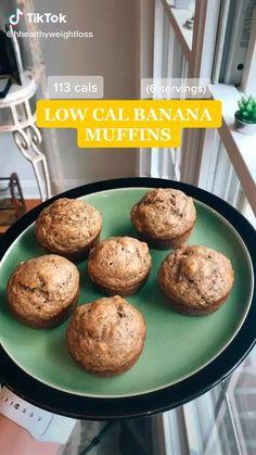 Low Calorie Muffins, Healthy Low Calorie Meals, Low Calorie Desserts, No Calorie Snacks, Low Calorie Recipes, Low Calorie Baking, Fun Baking Recipes, Healthy Breakfast Recipes, Healthy Baking