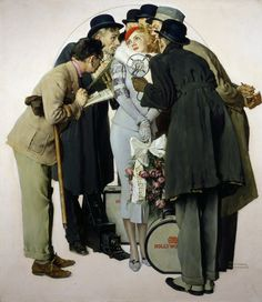 Norman Rockwell (1894-1978), Movie Starlet and Reporters, The Saturday Evening Post, March 7, 1936