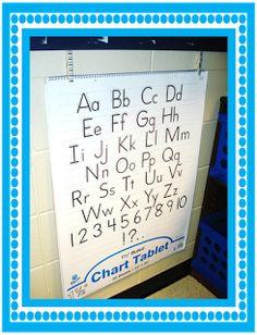 Grade School Giggles: Chart Paper Storage