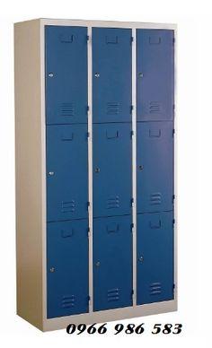 Tủ locker 12 cánh màu xanh
