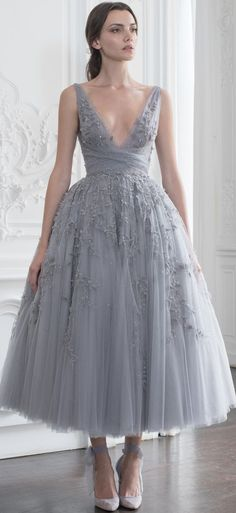 Gray Appliques Tulle Homecoming Dress,Mid-Length V-neck Evening Dress,Simple Sleeveless Graduation Dress Party Dress evening dress - Business Outfits for Work Pretty Dresses, Sexy Dresses, Fashion Dresses, Formal Dresses, Couture Dresses, Short Dresses, Denim Dresses, Wedding Dresses, Designer Party Dresses