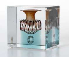 Candle Holders, Glass Cube, Candles, Holder, Glass