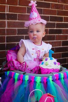 Babies 1st birthday picture