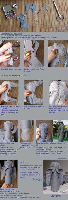 Weeping Angel Felt Plushie Tutorial by ~Martiya-Khvar on deviantART