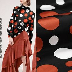 Items similar to Polka Dot Dotted Print Black Silk Charmeuse Crepe Satin Fabric Width 55 inch on Etsy Silk Charmeuse, Black Silk, Satin Fabric, Polka Dots, Fabrics, Trending Outfits, Handmade Gifts, Etsy, Vintage
