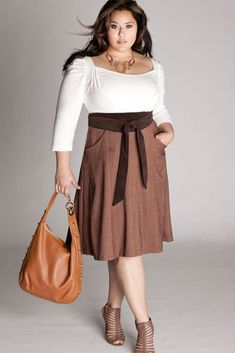 .plus size dress, cute look