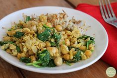 A deliciously hearty start to the day: Chickpea scramble & hash browns. Vegan & gluten-free.   cadryskitchen.com