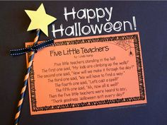 *Freebie* Five Little Teachers Halloween Poem~ I thought you all might need a magic wand this week!
