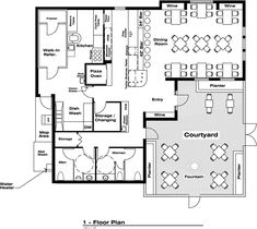 Commercial bar design plans good looking with commercial - Kitchen and dining area design crossword ...
