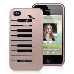 iPhone 4/4S metal case - piano keyboard bronze case