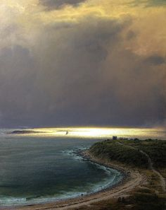 "Joseph Mcgurl ~ ""Light Sea Earth and Sky"" ~ Oil on Panel 30"" x 24"""
