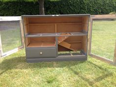 Rabbit hutch from old dresser
