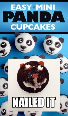 This panda bear cupcake that will give you nightmares forever: | 31 Foods That Failed So Hard They Almost Won In 2014