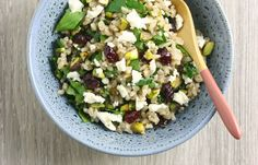 Steam Oven Brown Rice Salad - You'll find a gorgeous new recipe for Christmas-inspired brown rice salad with cranberries, pistachios, herbs and feta cheese over on the blog today. It's a fantastic addition to any celebratory meal this week and we can't get enough of it at our place.