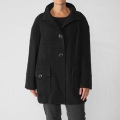 Focus 2000 Womens Single-breasted Stand Collar Coat Focus 2000. $34.99