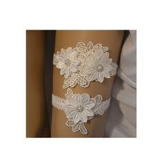 Ivory Lace Wedding Garter Set, Light Ivory Wedding Garter, Unique Garter Belt, Ivory Floral Bridal Garter Set, Vintage Style Bridal Garter by SpecialTouchBridal on Etsy