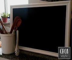 CHOK - cosas lindas. Pizarra con marco, para decorar tu cocina. #deco