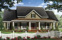 Country House Plan with 2436 Square Feet and 4 Bedrooms from Dream Home Source | House Plan Code DHSW076317