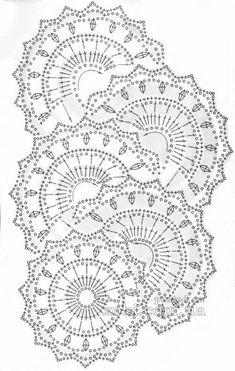 ленточное кружево 83 - схема вязания