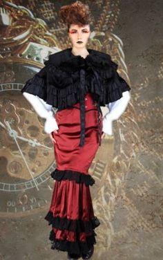 10aec01167 Women's Amazing Steampunk Red & Black 4 Piece Ensemble Steampunk  Fashion Women, Gothic Fashion