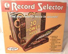 Vintage K-Tel Record Selector New In Box 1972 Vinyl LP Display at www.hamptoncollect.com
