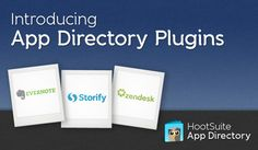 Dang Hootsuite has done it again!  Evernote, Zendesk & Storify apps!  Off to check them out myself.