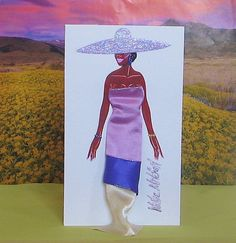 X-large 3-D Fashion Greeting Card (Haute Summer 2016 Exclusive Edition) by WMitchellDesigns on Etsy