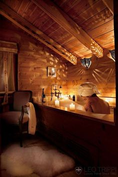 Beautiful bath in a ski chalet.