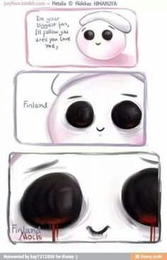 Tumblr ... Finland mochi pt2  Why is Finland's mochi so scary?!?