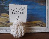 Rope table numbers!