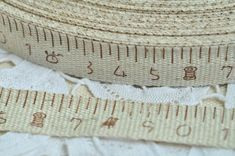 Cotton Sewing Tape 15mm(5/8) x 2 Yards Fabric Label Cloth Tape Cotton Linen Cotton Ribbon Label - Ruler Centimeters Pattern 1-10 Number via Etsy