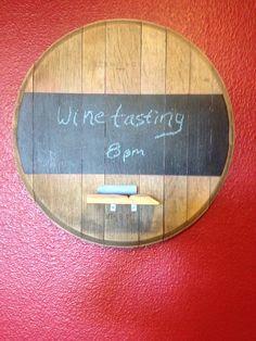 Wind barrel top chalkboard for game room kitchen or tasting room on Etsy, $68.00