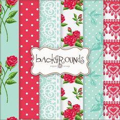 red and aqua Freebies Backgrounds
