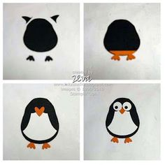 Penguin made using the Two-step Owl punch