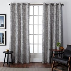 ATI Home Finesse Faux Linen Grommet Top Curtain Panel Pair - 16589519 - Overstock - Great Deals on ATI Home Curtains - Mobile