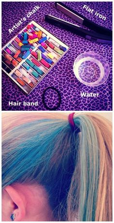 Chalk the kids' hair so they reach maximum awesomeness.