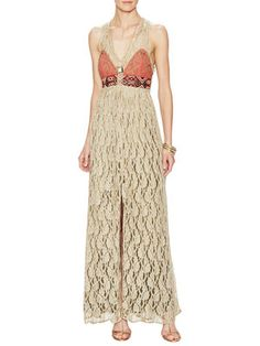 Crushed Gold Lace Dress