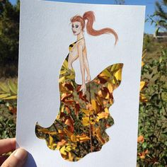 Armenian fashion illustrator Edgar Artis uses stylized paper cut outs and everyday objects to create beautiful dresses. His creative fashion sketches include such items as rose petals, various plants and food, even buildings. Unique Drawings, Amazing Drawings, Amazing Art, Art Drawings, Art And Illustration, Flower Fashion, Fashion Art, Silhouette Mode, Cut Out Art