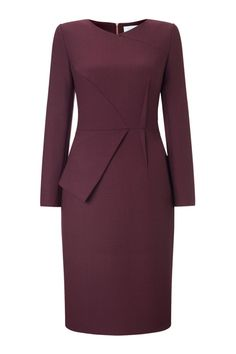 Eaton Dress Burgundy Office Dresses For Women, Office Outfits Women, Clothes For Women, Chic Dress, Classy Dress, Classy Outfits, Beautiful Dresses, Nice Dresses, Casual Dresses