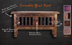 Rustic furniture by Foxden decor, create you own unique look!