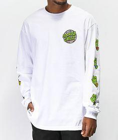 a6eea4284dc0 TMNT x Santa Cruz Sewer Dot White Long Sleeve T-Shirt