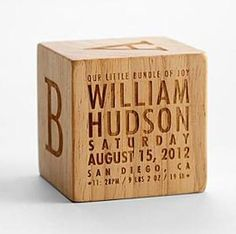 Gift Idea: Natural Wood Keepsake Block