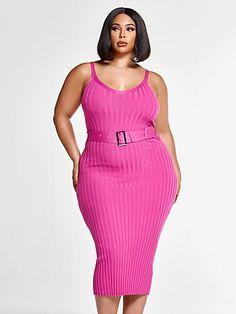 Queen Fashion, Big Girl Fashion, Curvy Women Fashion, Pink Fashion, Fashion Dresses, Plus Size Dresses, Plus Size Outfits, Plus Size Summer Fashion, Fashion To Figure