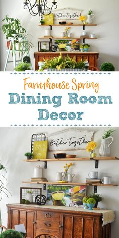Celebrate Spring with bright and cheery home decor in yellow and green. Find easy and budget friendly ways to add cheer to your Dining Room space. Diy Home Decor, Room Decor, Decor Crafts, Art Decor, Home Decor Inspiration, Decor Ideas, Art Ideas, Room Ideas, Farmhouse Decor