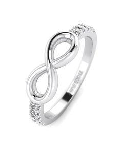 Promise Rings White Gold Diamond Promise Ring For Her - Infinity