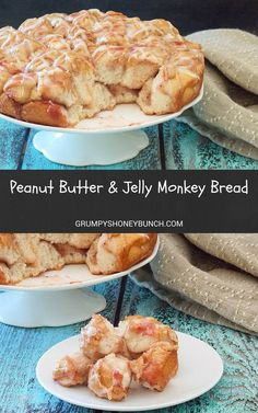 Peanut Butter and Jelly Monkey Bread #SundaySupper