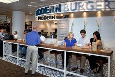Modern Burger is located in Terminal 4.  http://skyharbor.com/mapsfoodshops/mapsfoodshops.html
