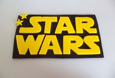 Starwars at allsugarheart on Etsy! https://www.etsy.com/listing/250846449/star-wars-sign-cake-topper-black-and
